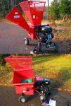 Rębak tarczowy WOMBAT : szeroki wlot na gałęzie + 4 kółka transportowe - Obraz2