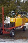 OPRYSKIWACZ spalinowy wózkowy platformowy POLEXIM100P: 100L - Obraz3