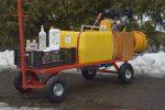 OPRYSKIWACZ spalinowy wózkowy platformowy POLEXIM100P: 100L - Obraz4