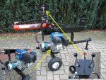 ŁUPARKA HYDRAULICZNA: nacisk 12 ton, napęd pompy hydraulicznej z silnika OHV 6.5 km - Obraz2